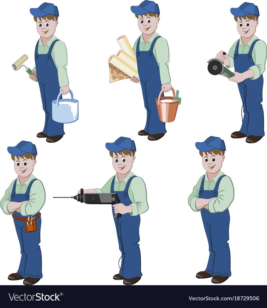 Set of decorator or handyman