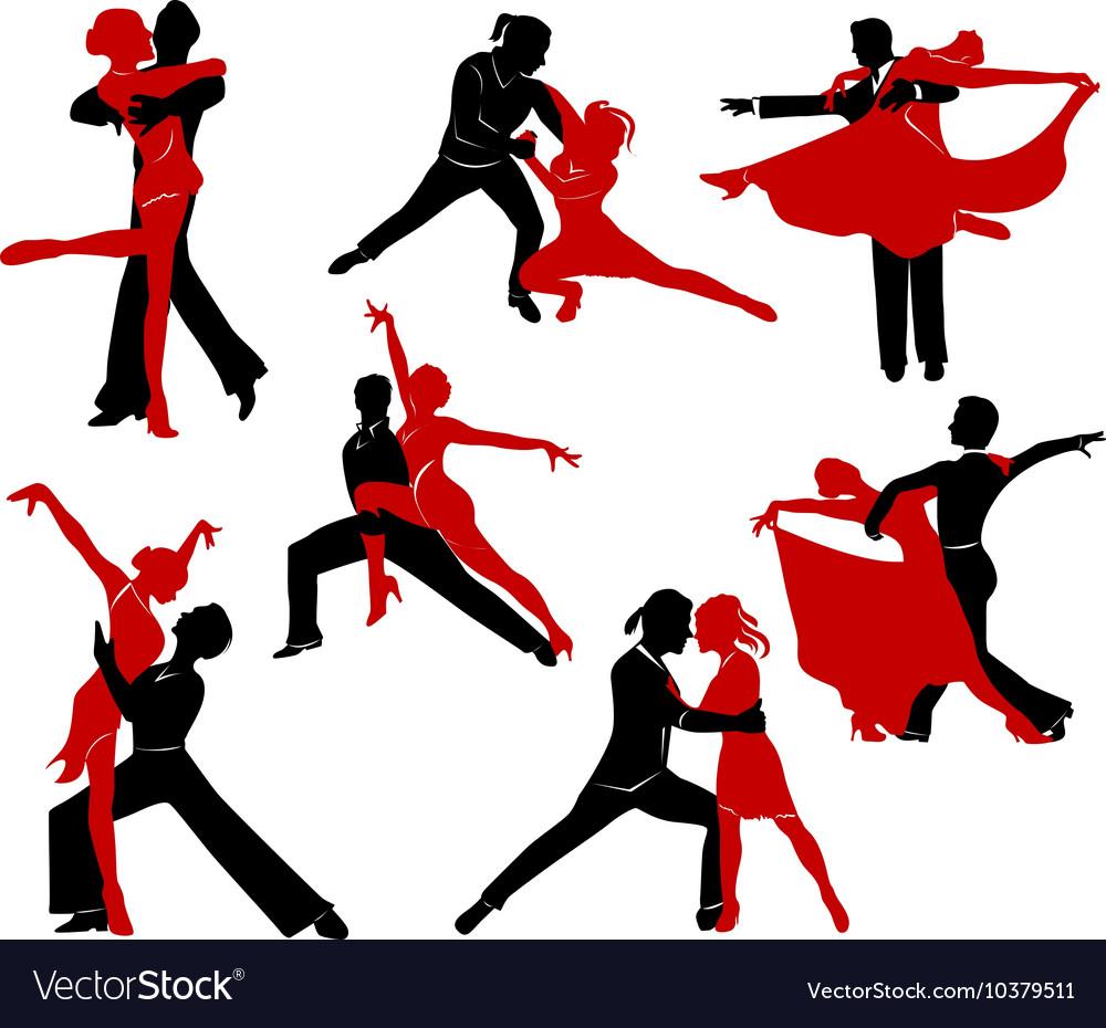 Ballroom dancing - 6 vector image