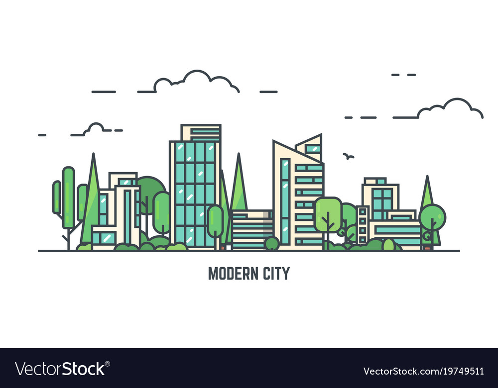 City with park