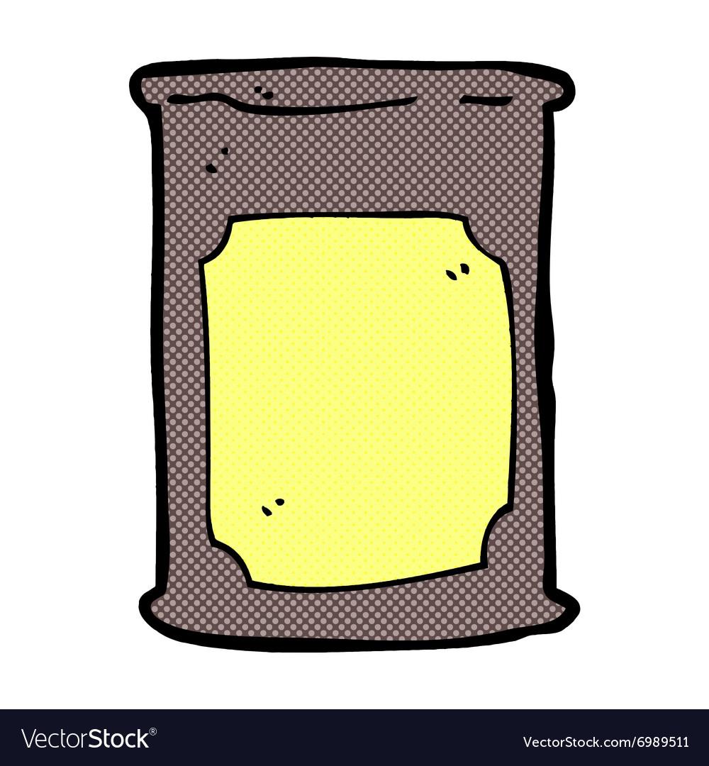 Comic cartoon oil barrel