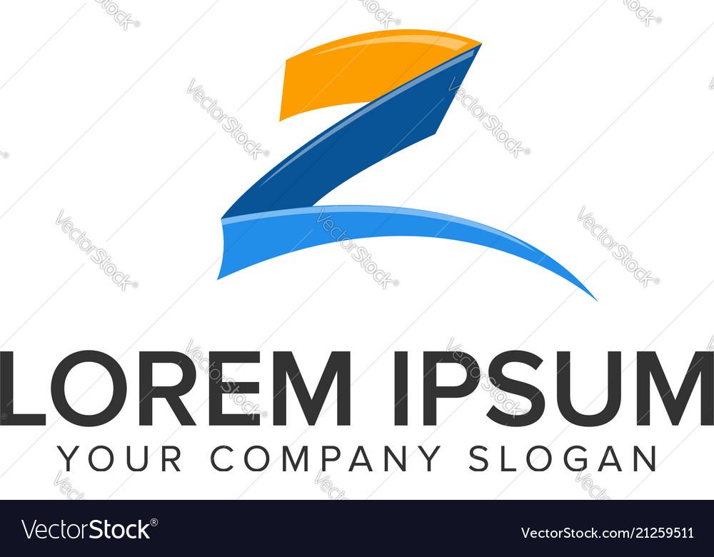 Creative modrn letter z logo design concept