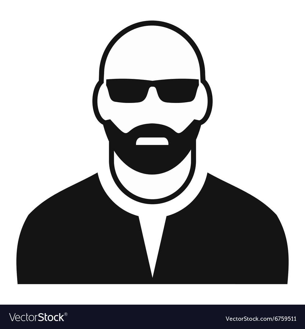 man with glasses avatar simple icon royalty free vector