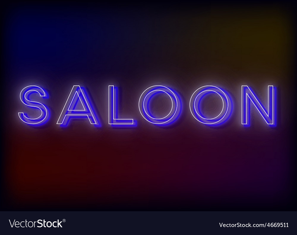 Neon Saloon Saloon neon sign design for your