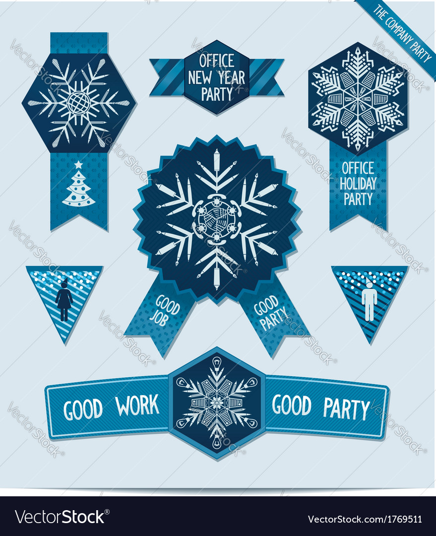 Set Of Christmas Decorations For Your Office