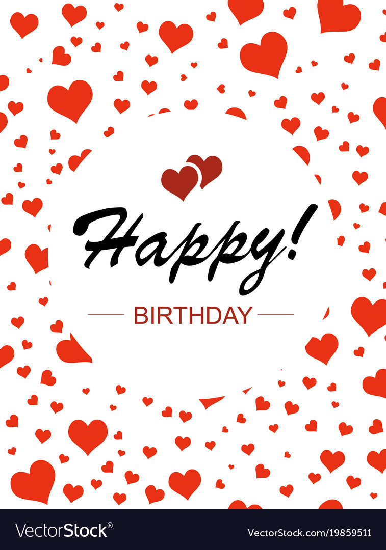 template design for vertical card happy birthday vector image