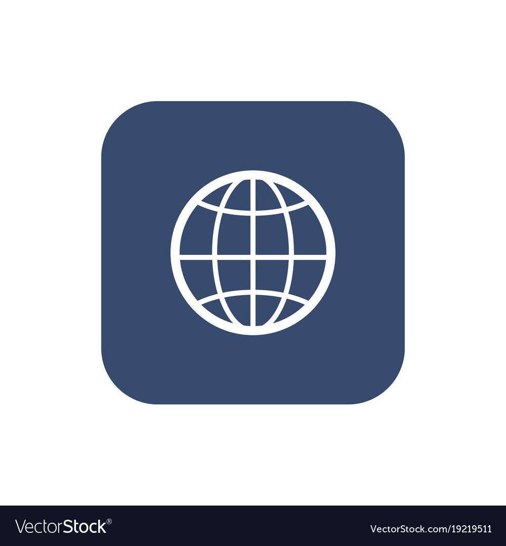 The globe icon globe symbol flat vector image