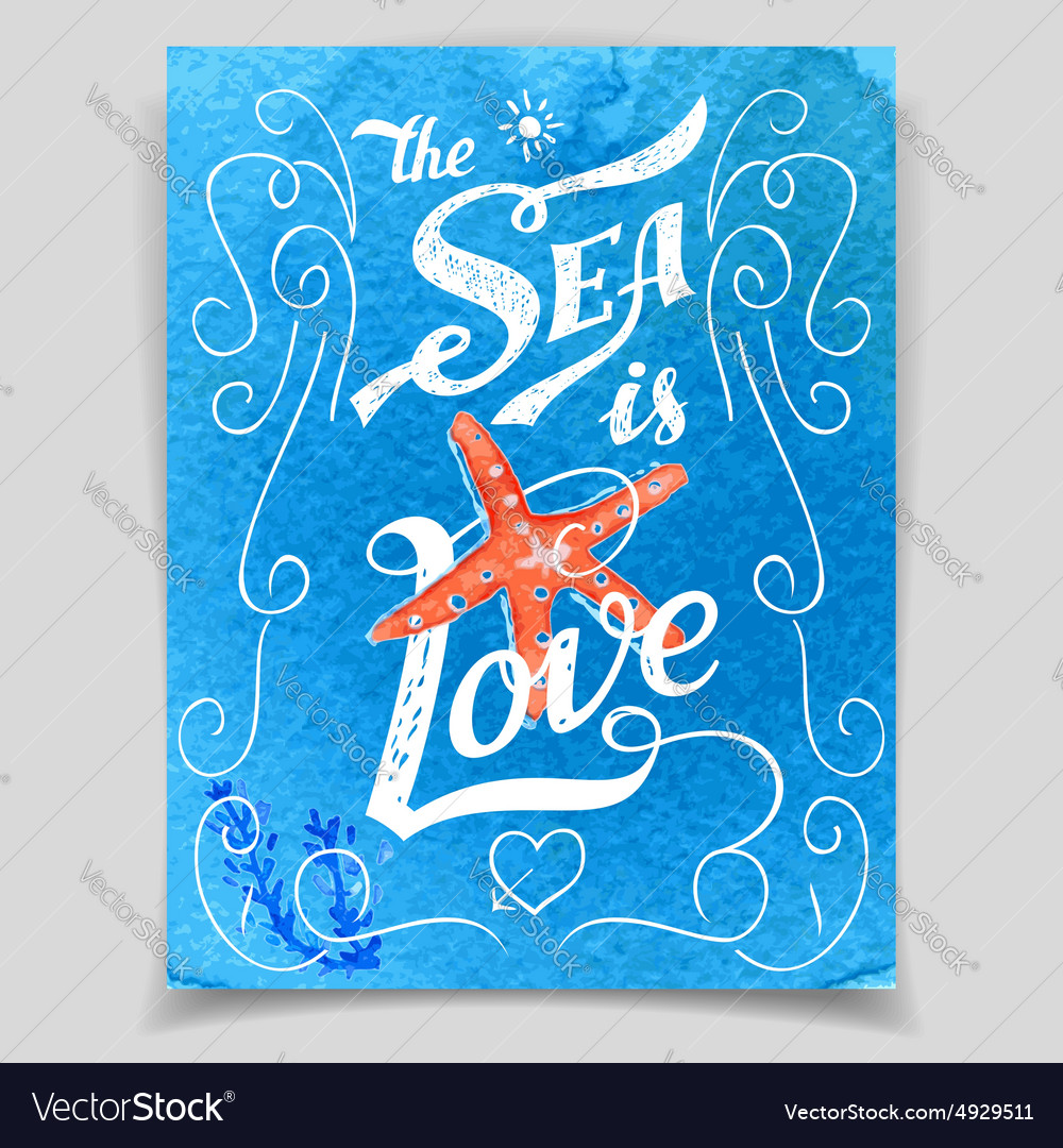 The Sea is Love greeting card