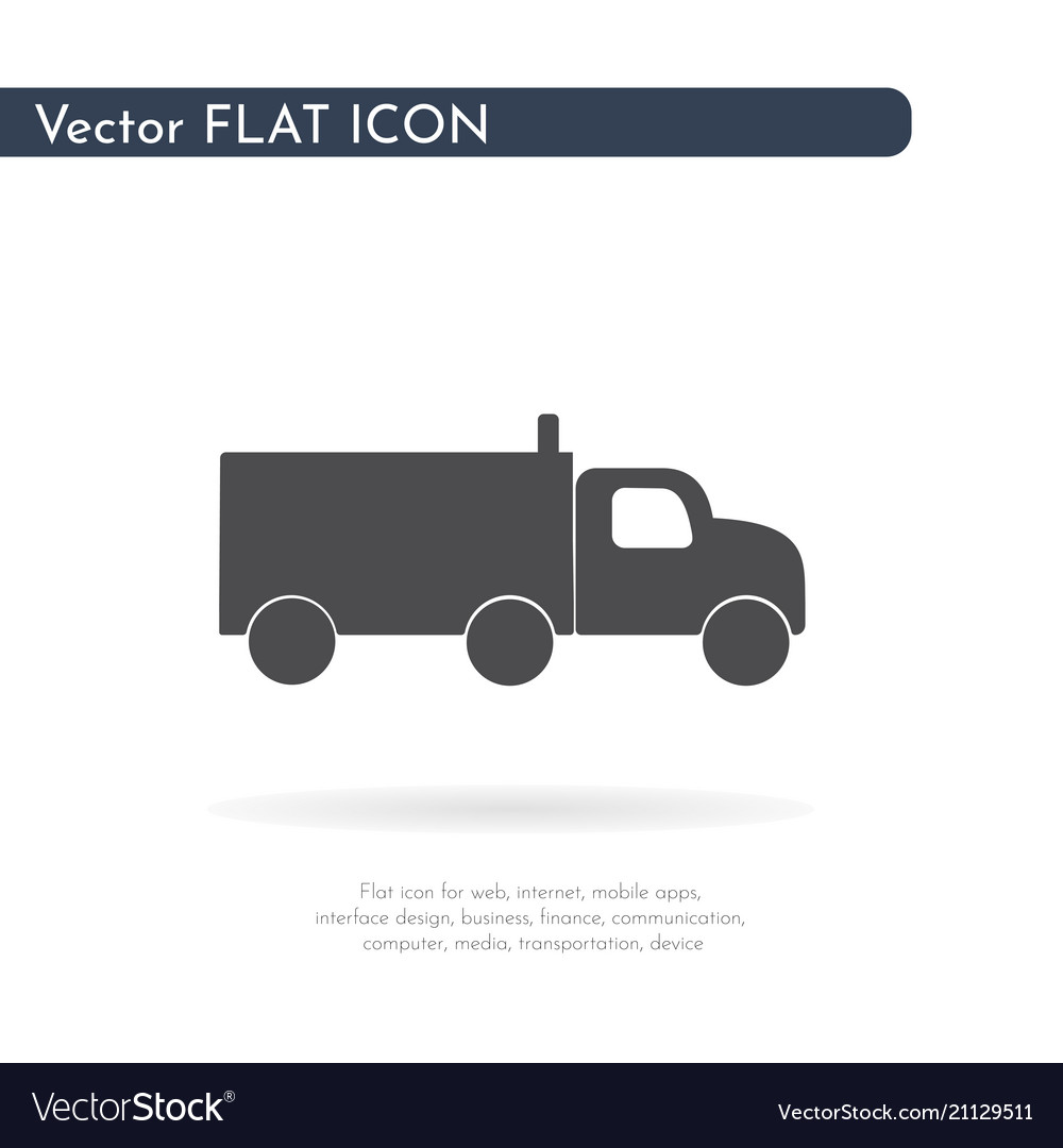 Truck icon for web business finance and