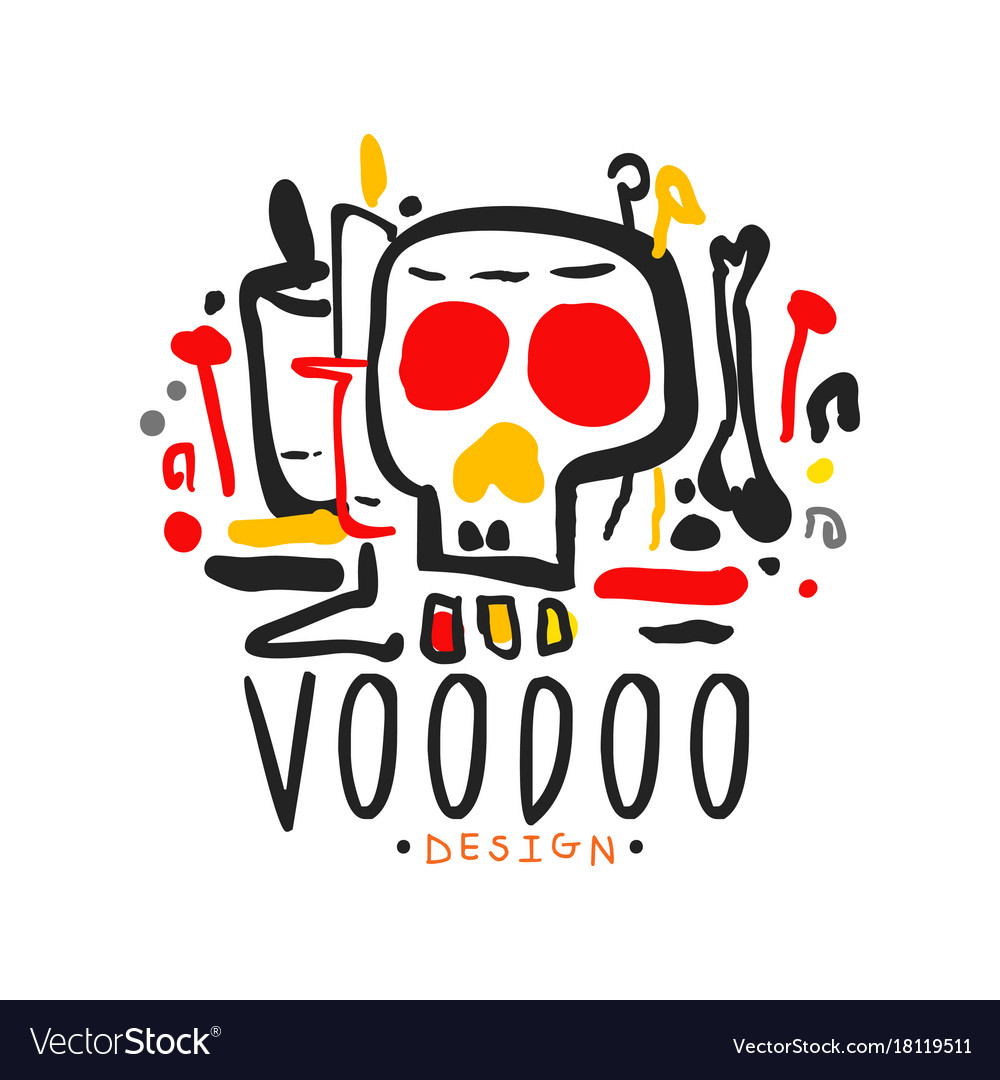 Voodoo african and american magic logo with mystic