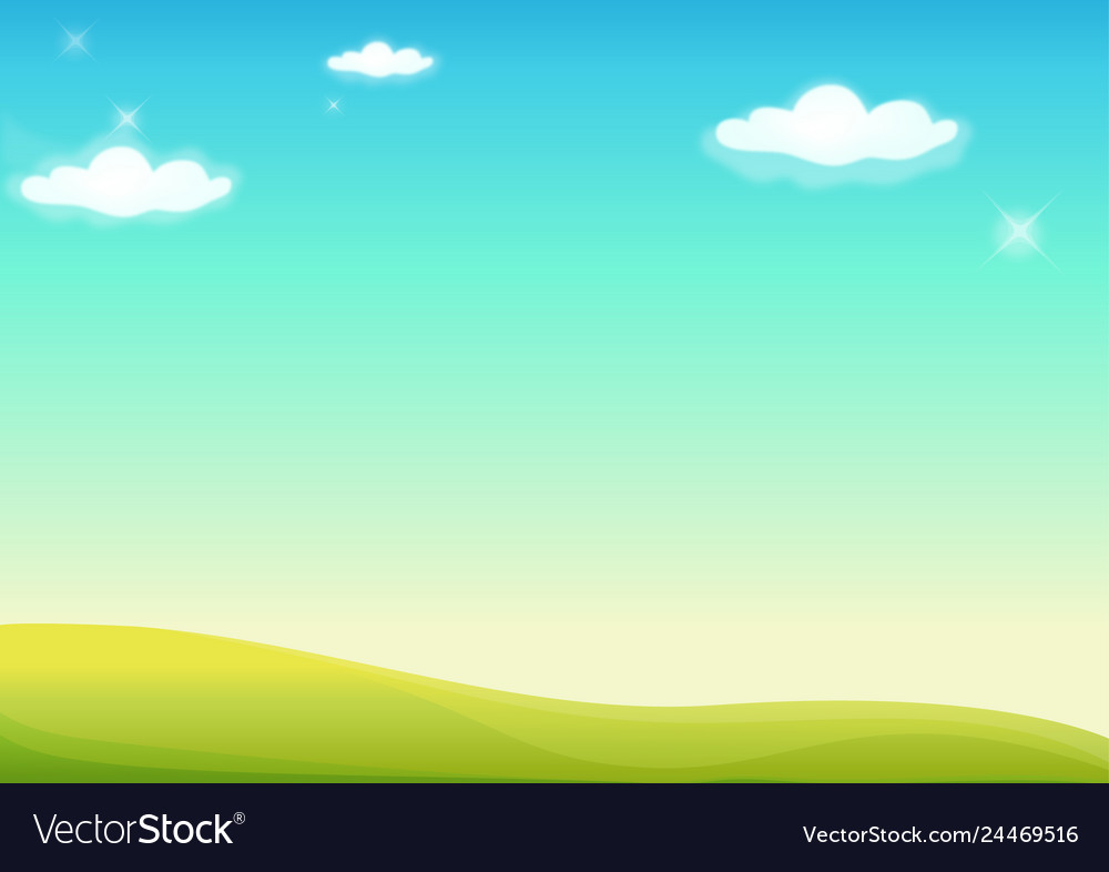 Background nature landscape with sky hills and