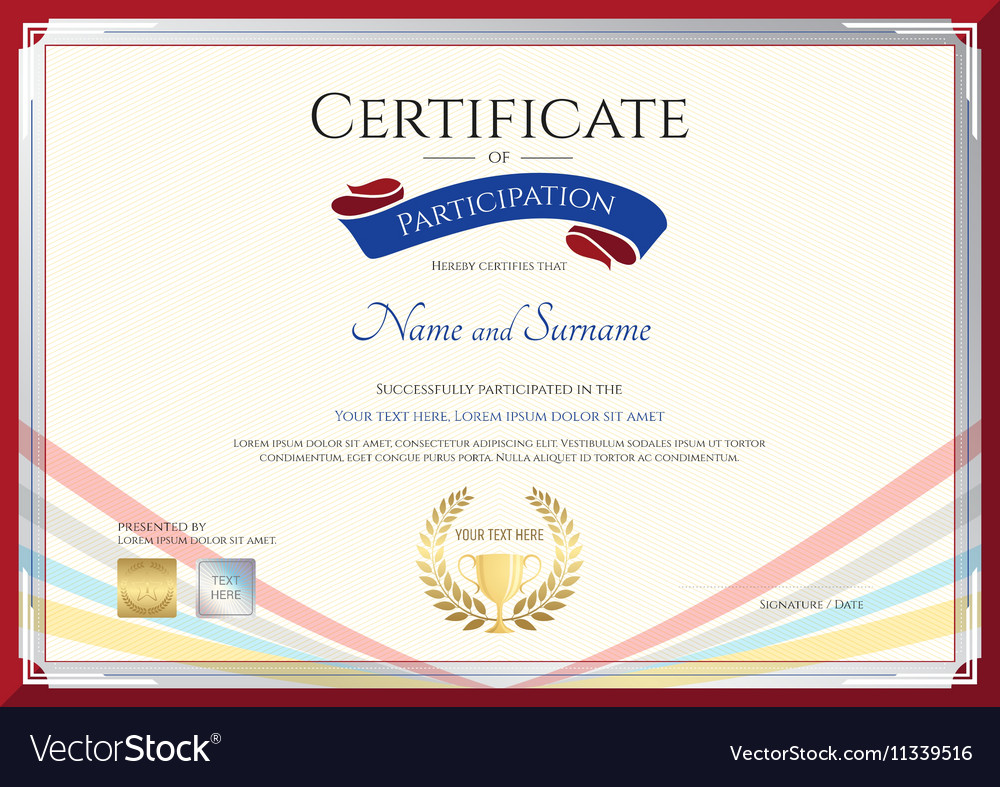 Certificate template for achievement vector image