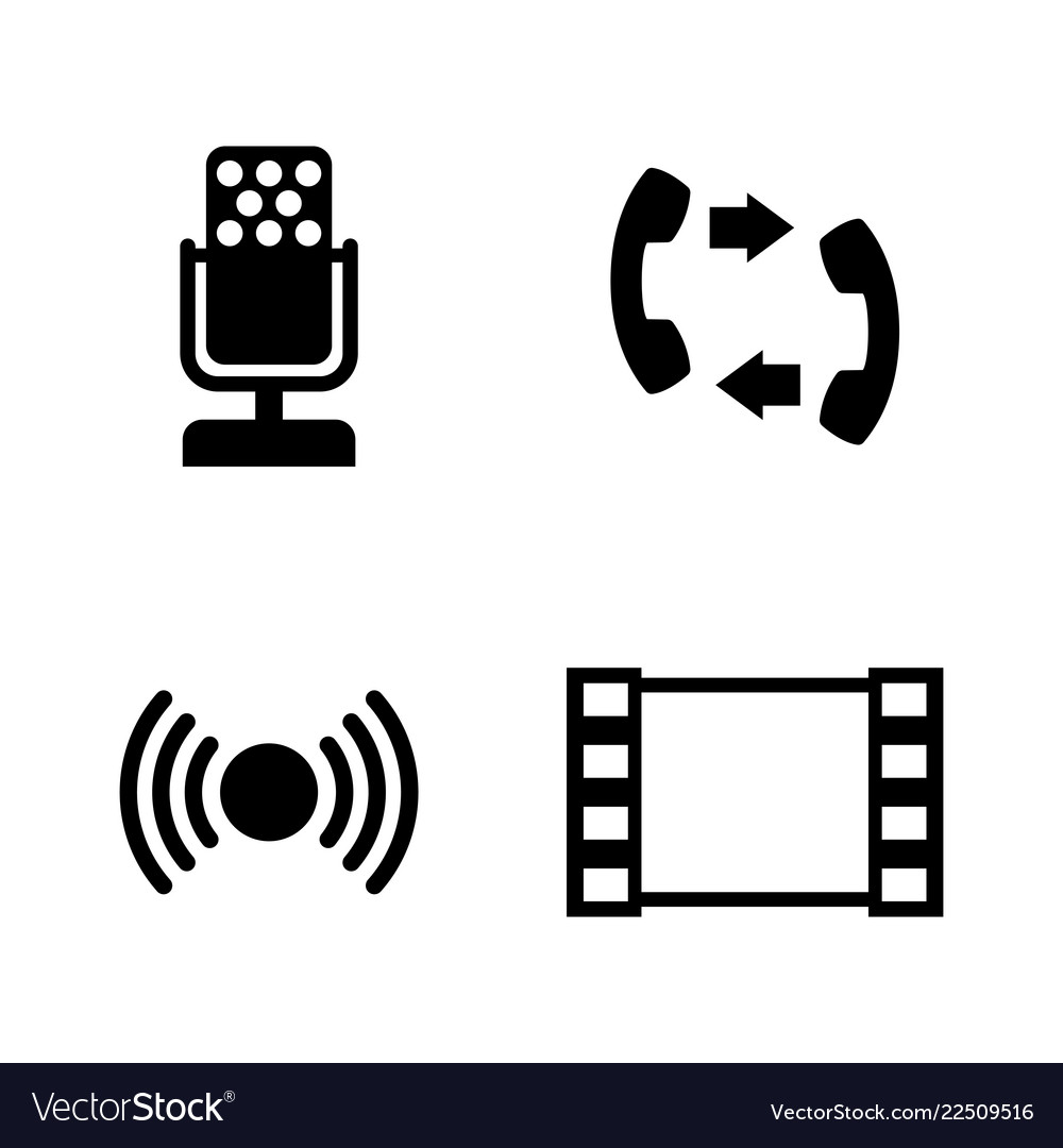 Connection simple related icons