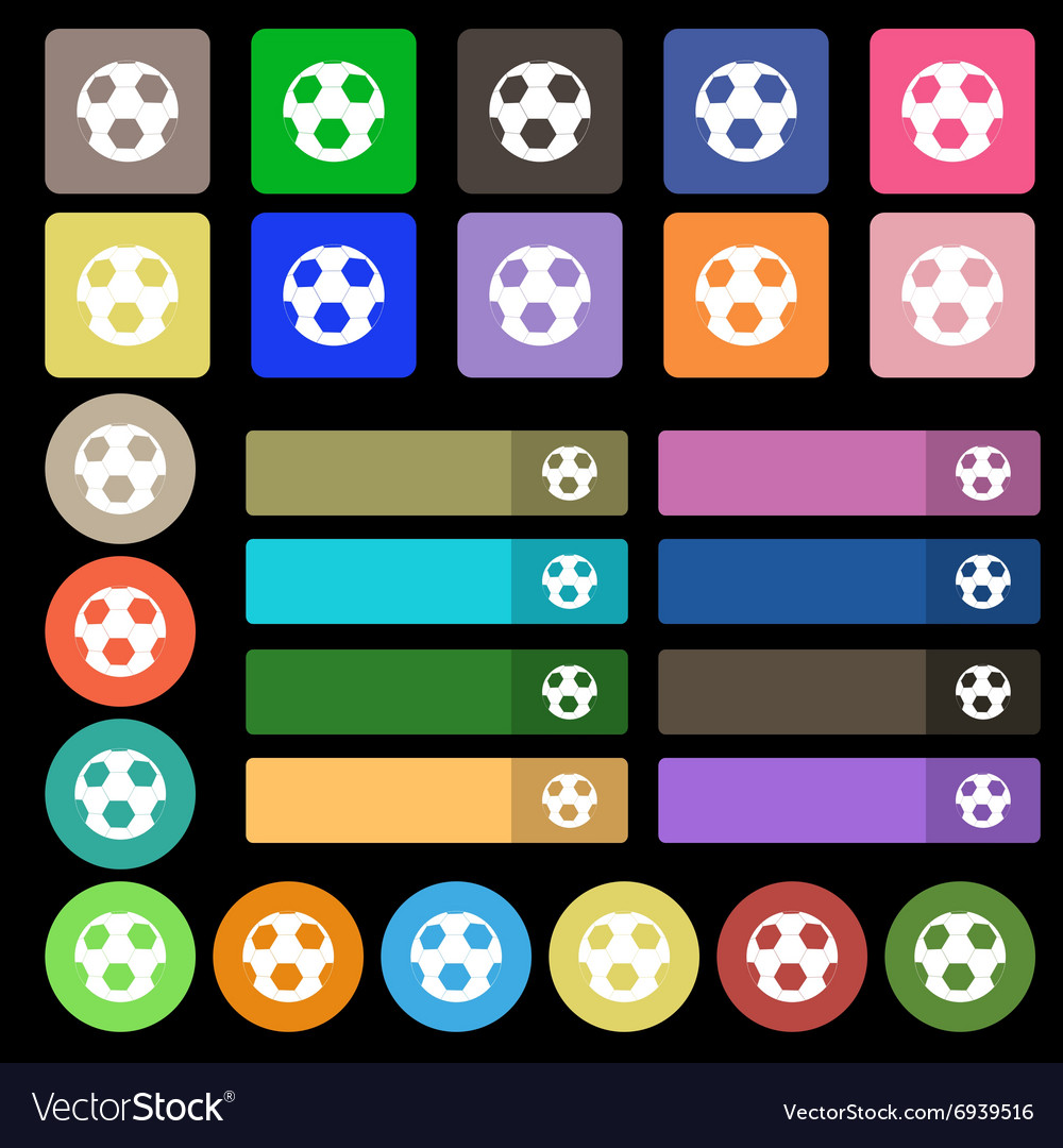Football icon sign Set from twenty seven vector image