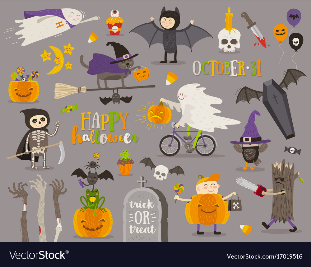 Halloween symbol and object pack