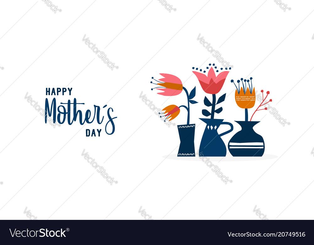Mother day cute flower garden web banner art vector image