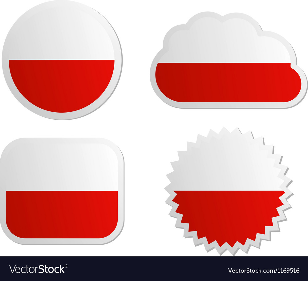 poland flag labels royalty free vector image vectorstock rh vectorstock com vector label shapes vector labels vintage free