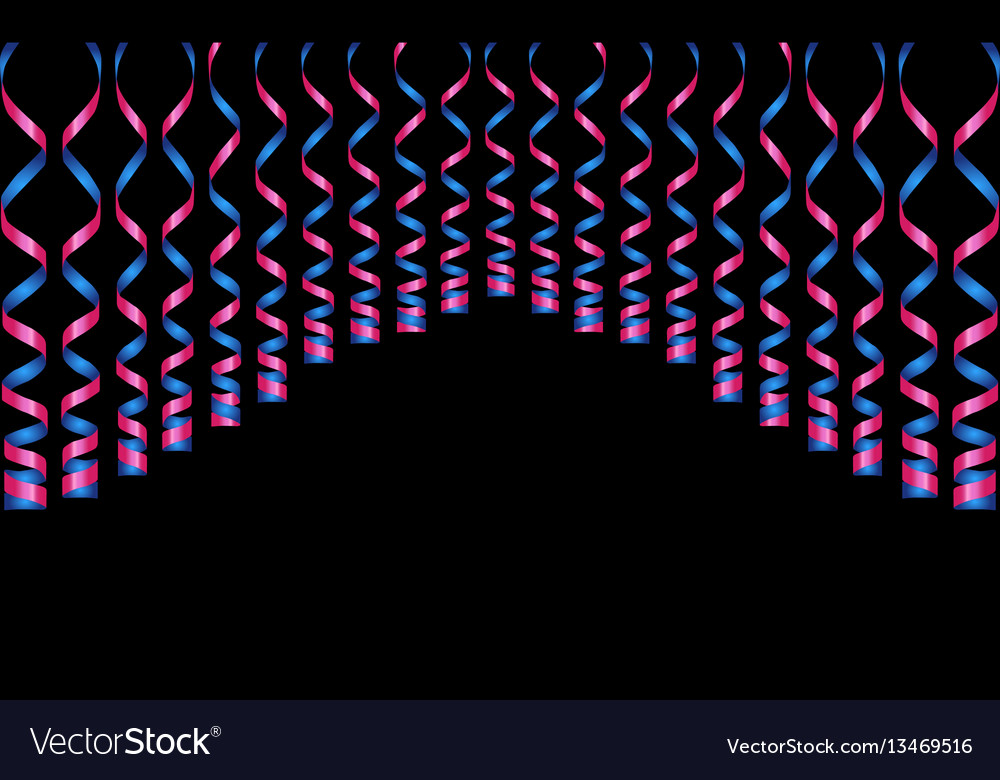 Serpentine ribbons isolated on background