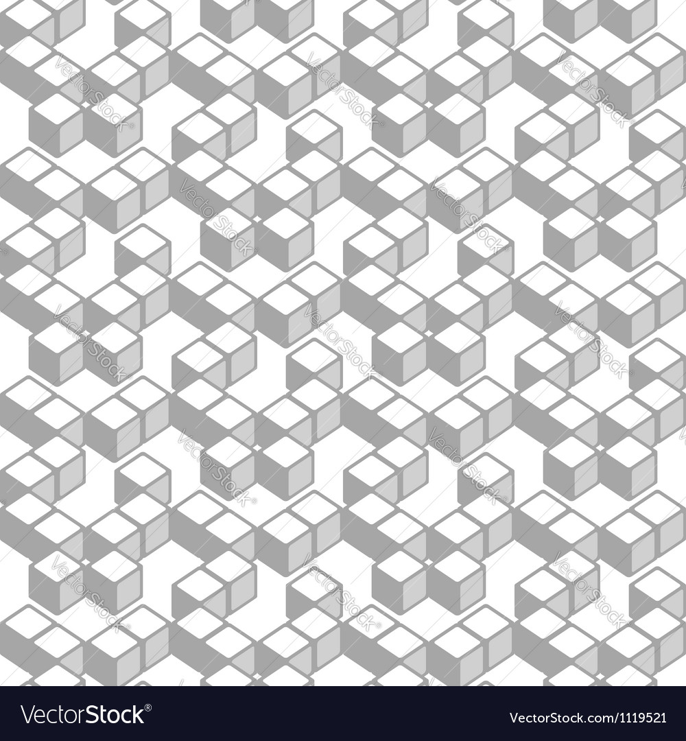 Abstract cubes pattern