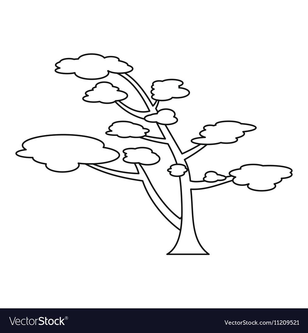 Cedar icon outline style