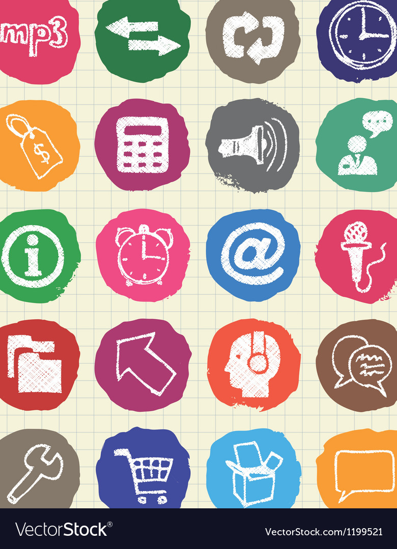 Internet media and network web icons set