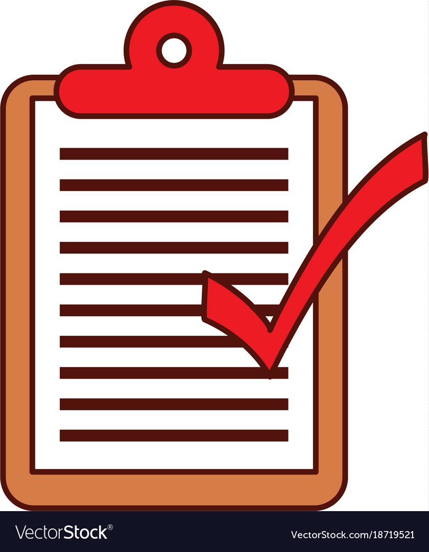 logistic delivery checklist clipboard ok vector image