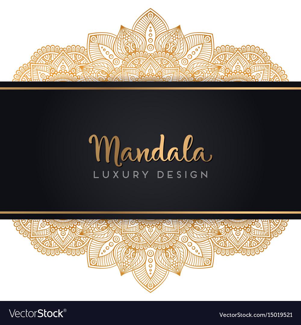 Luxury Wedding Invitation With Mandala Royalty Free Vector