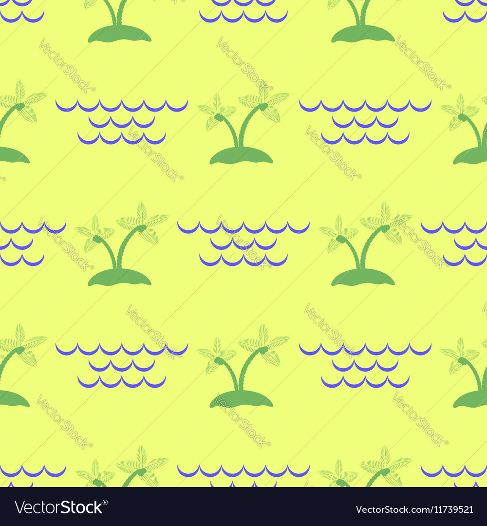 Palm Seamless Pattern vector image