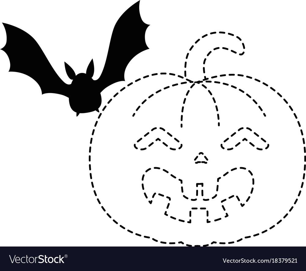 Pumpkin hallooween with vampire decorative icon