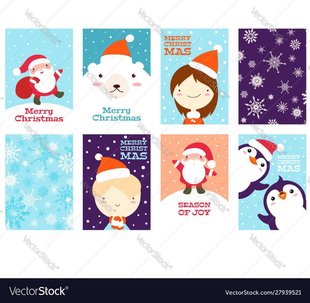 Set christmas gift tag