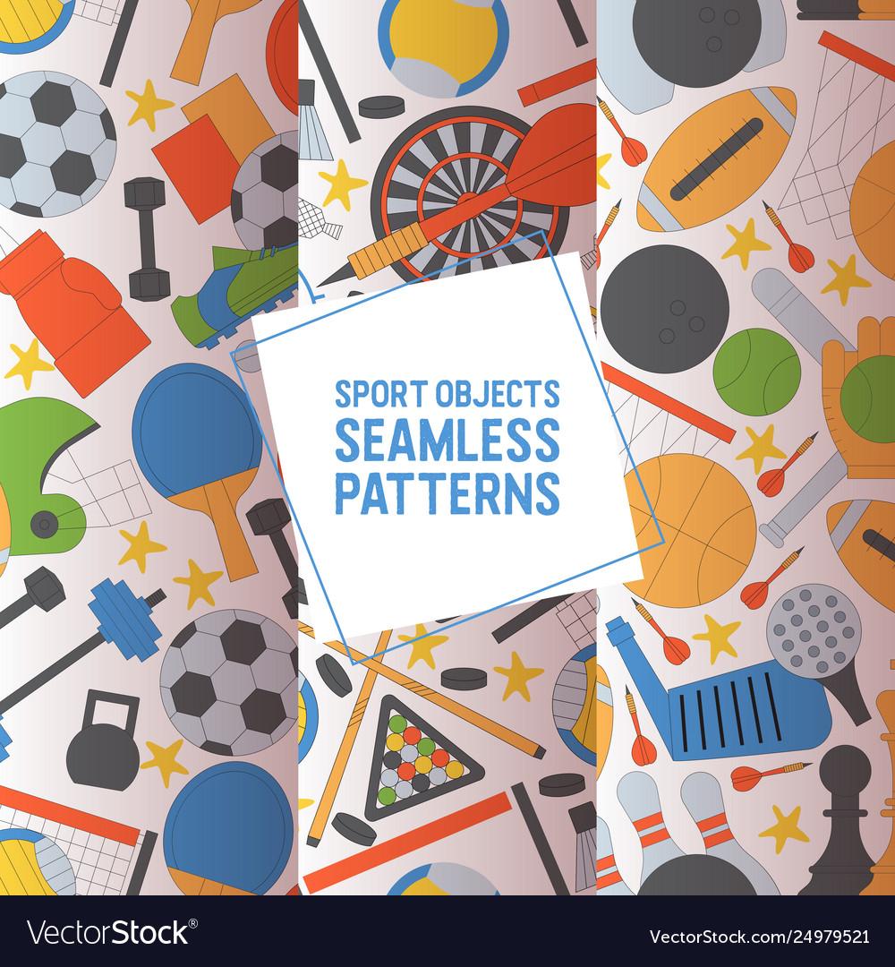 Sport seamless pattern sportive baseball