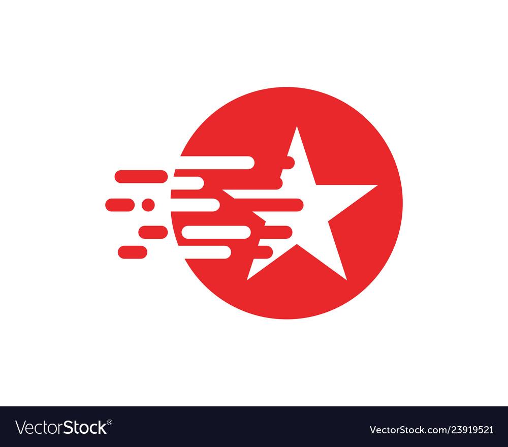 Star logo template icon