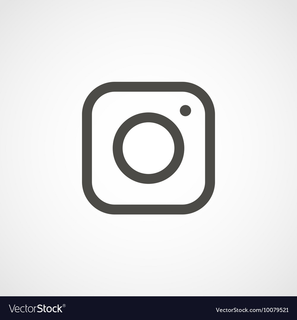 Web icon of modern lineart camera