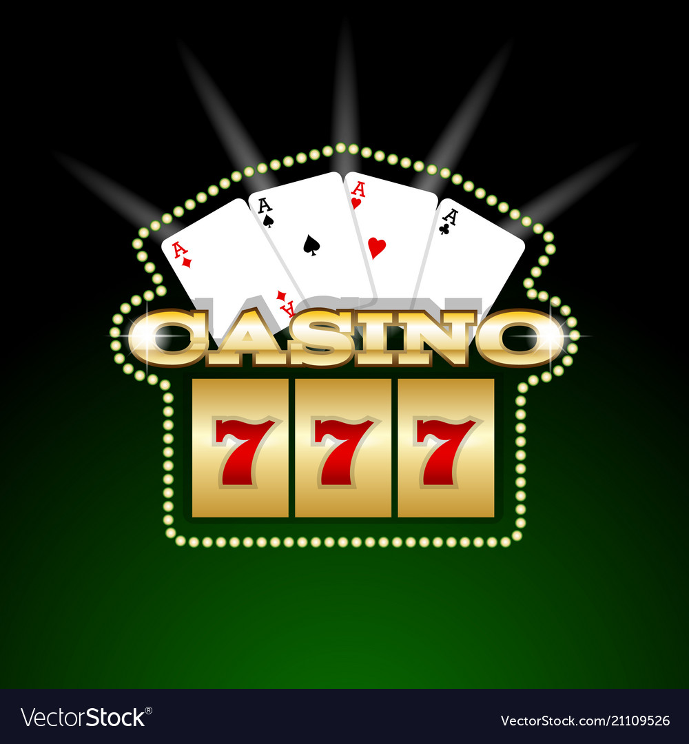 Casino signboard template Royalty Free Vector Image