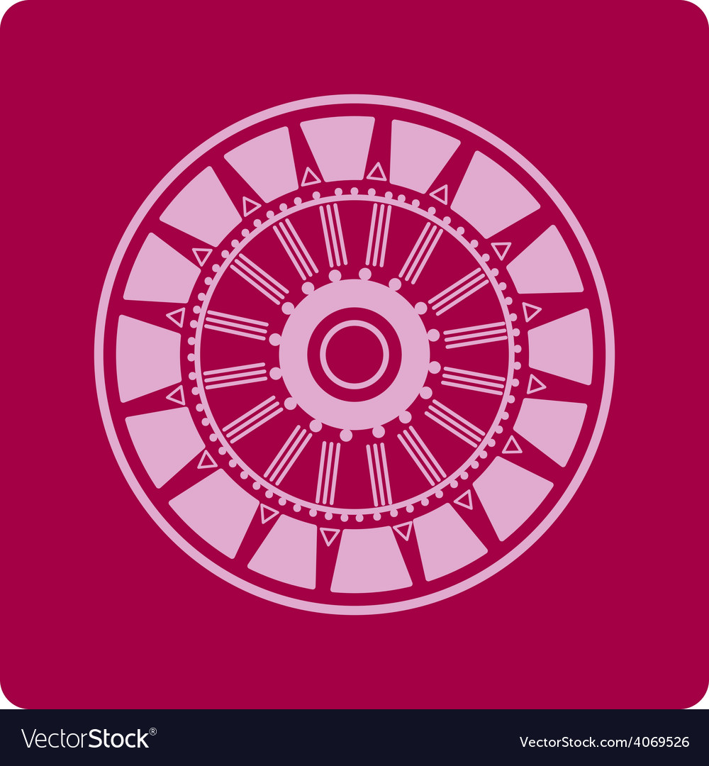 Celtic circular geometric floral pattern