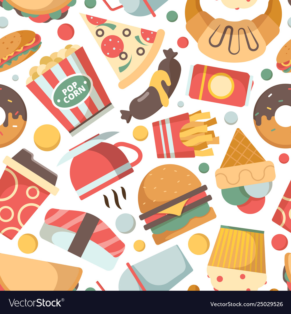 Fast food pattern restaurant menu pictures pizza