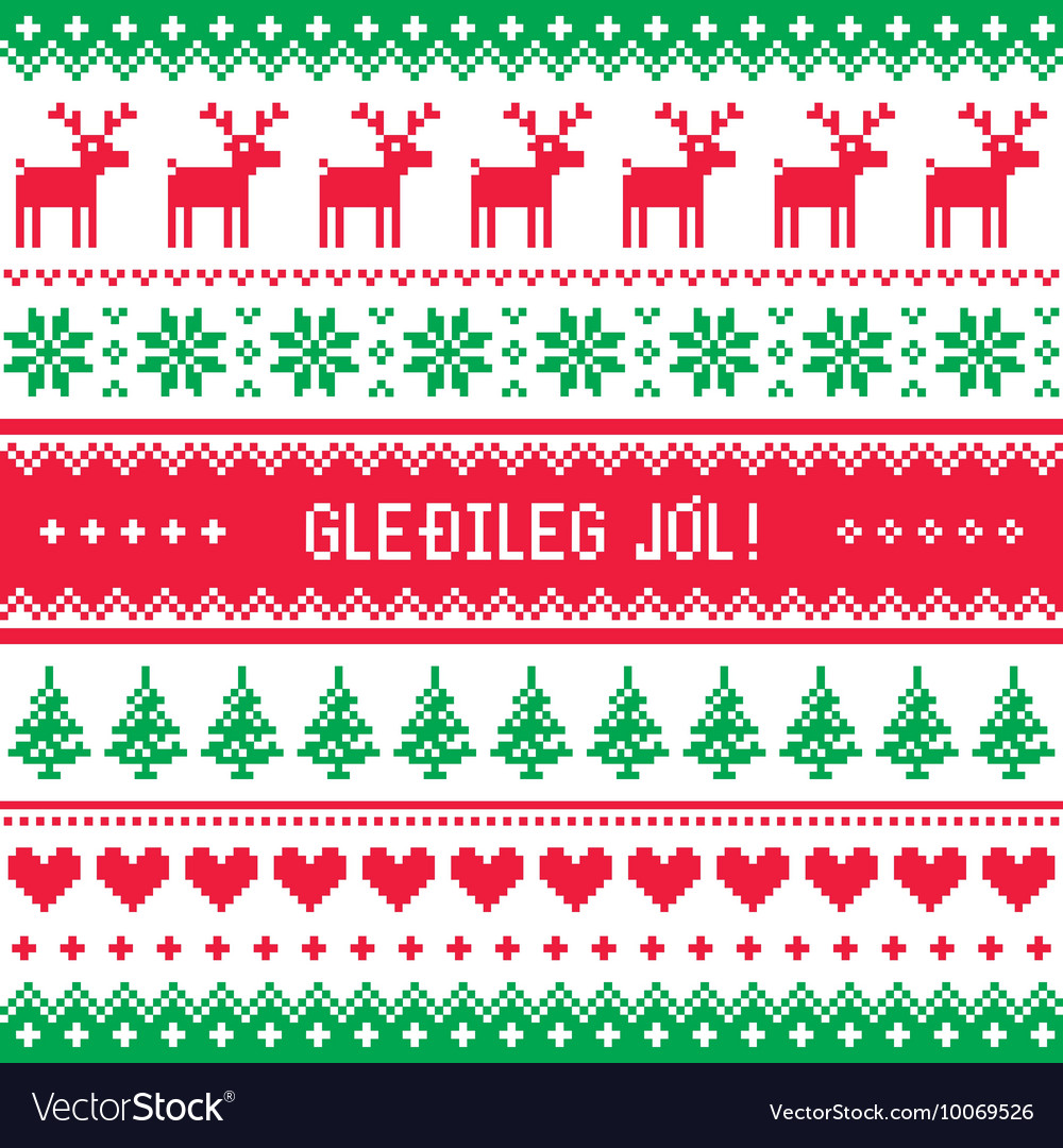 Gledileg Jol - Merry Christmas in Icelandic