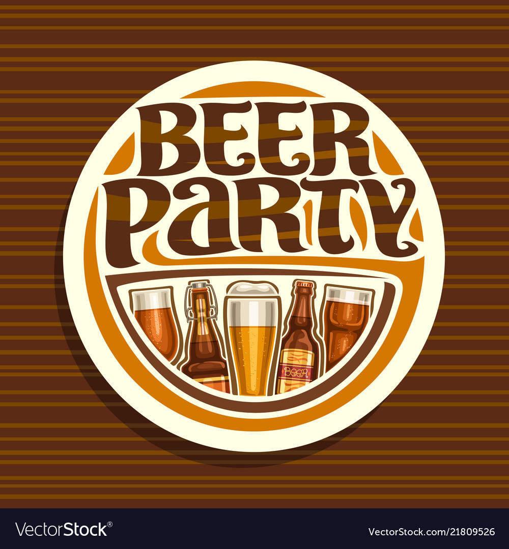 Logo for beer party