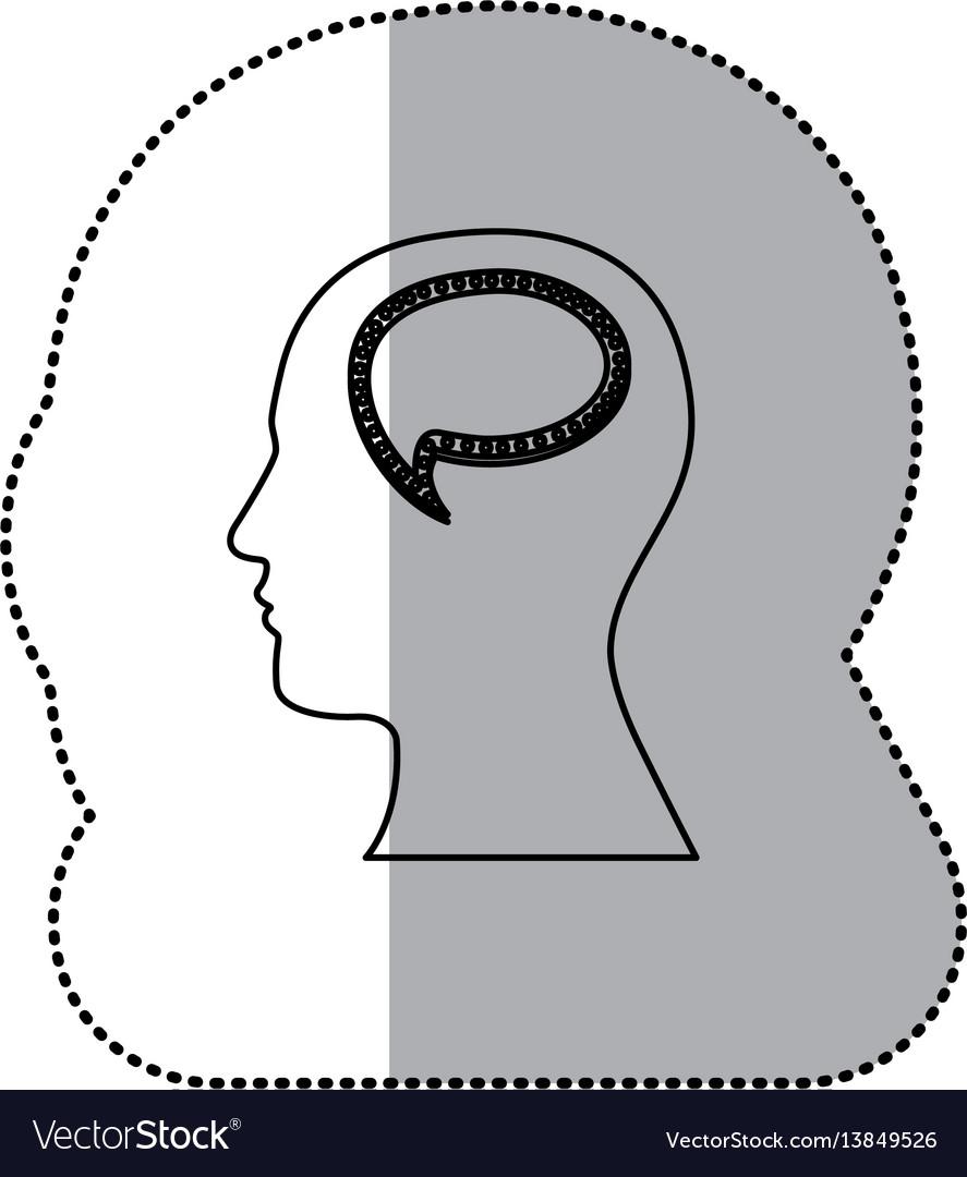 Person with bubble brain icon vector image