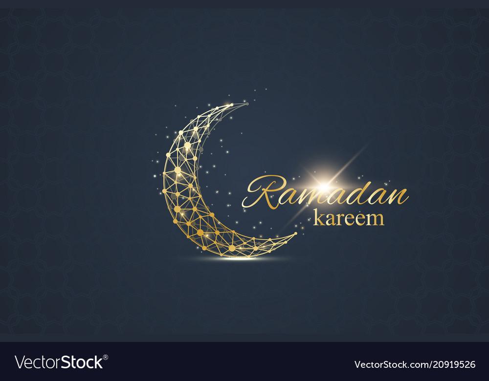 Ramadan greetings background luxury gold