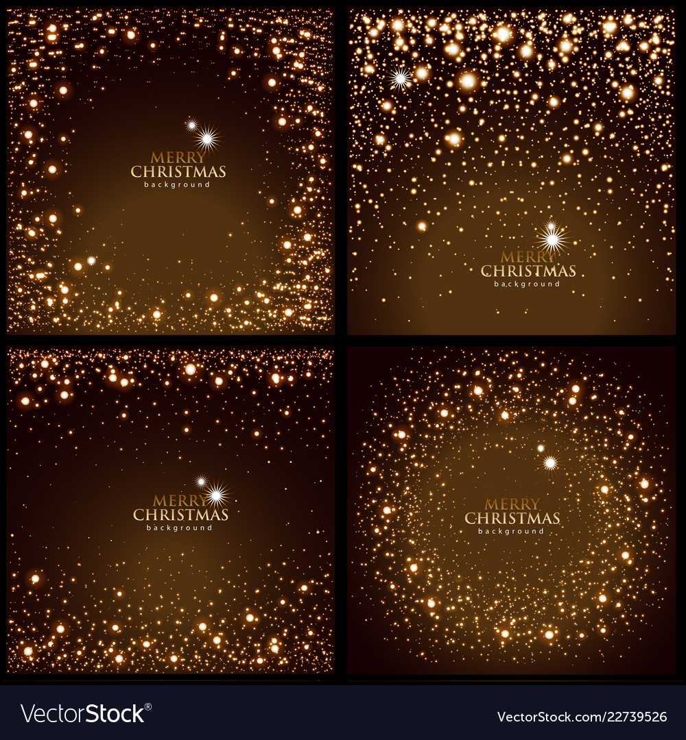 Set of glitter backgrounds with glowing lights