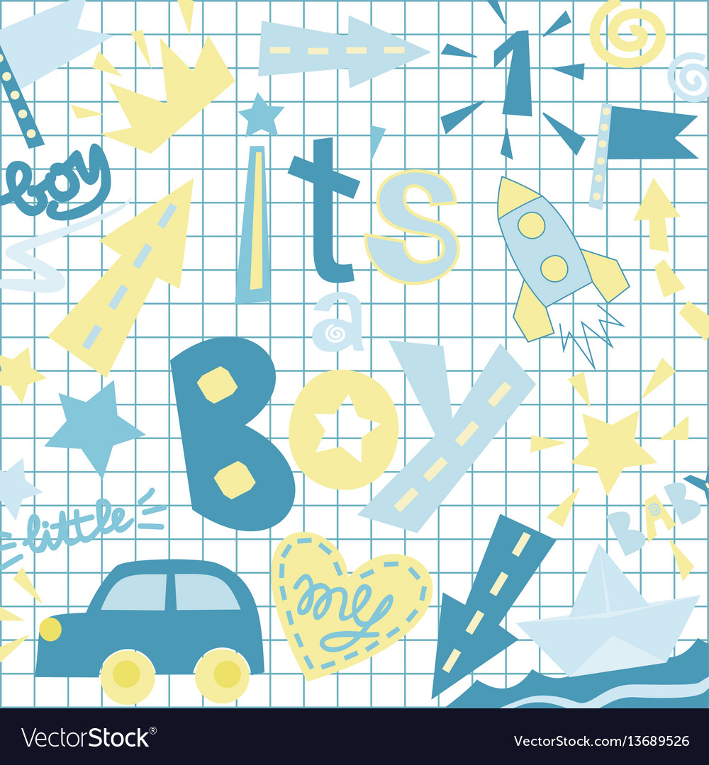 The poster child with title it s a boy vector image