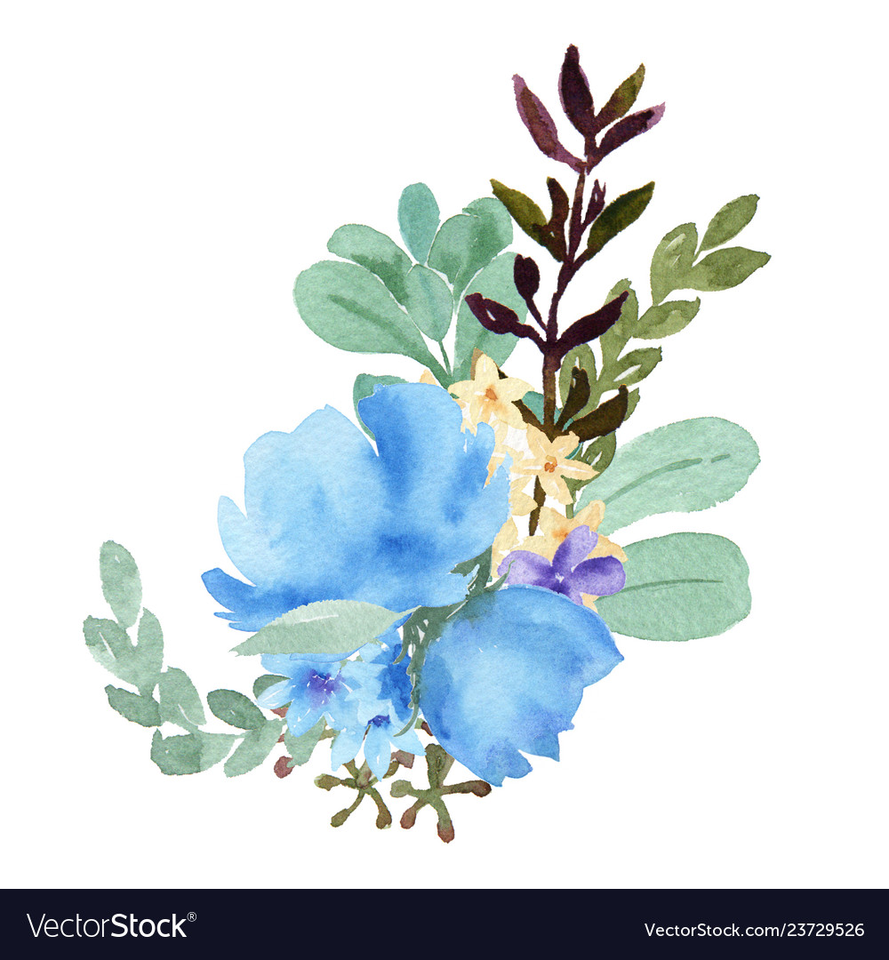 Watercolor bouquets florals hand painted lush