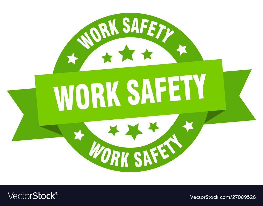 Work safety ribbon work safety round green sign