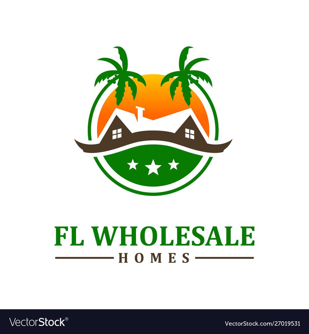 Beach housing logo design