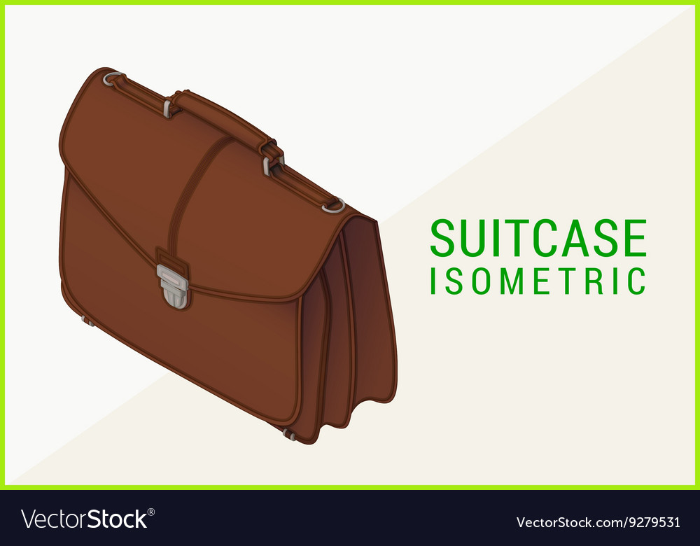 Briefcase isometric flat 3d