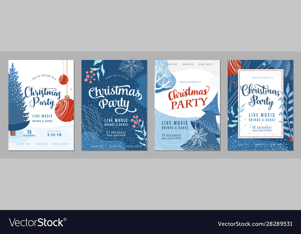 Christmas party invitation poster background in
