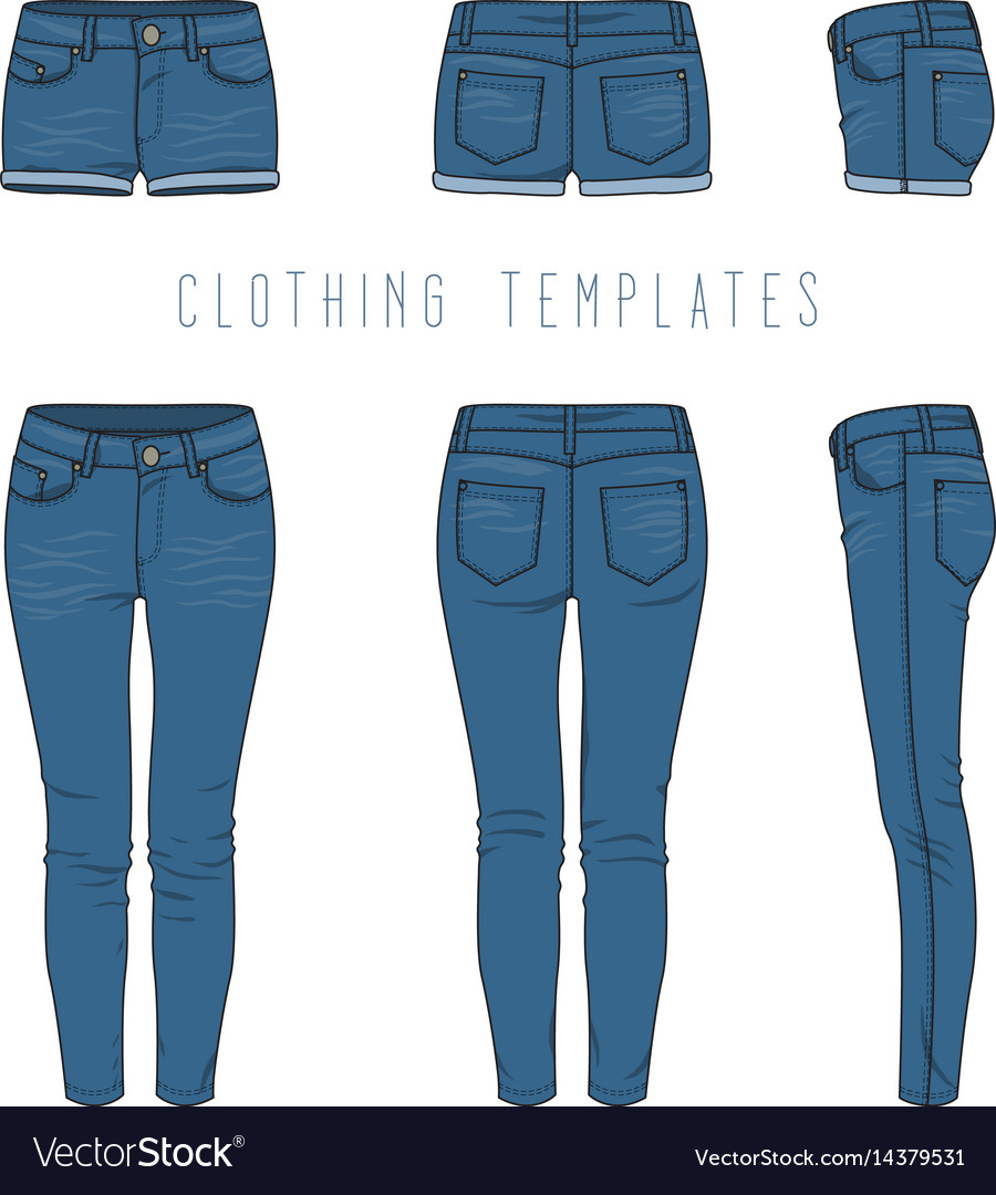 Clothing Templates Set Royalty Free Vector Image