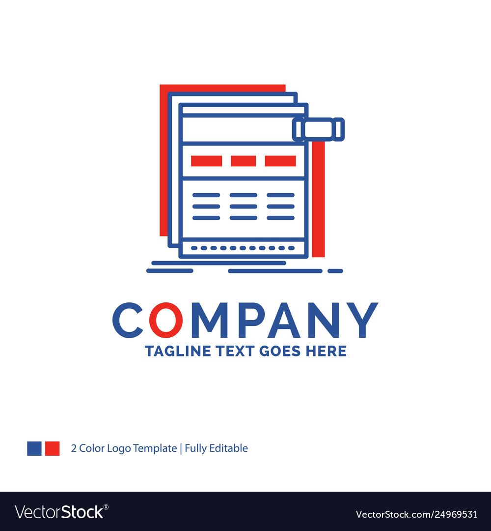 Company name logo design for internet page web