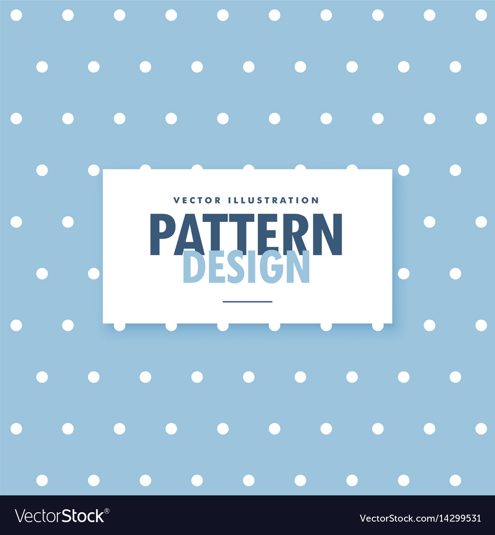 Cute blue background with white polka circle dots