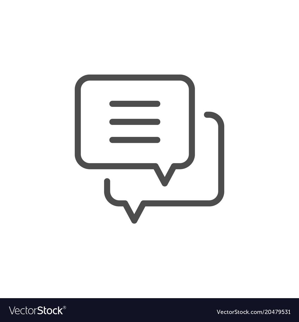 Dialog line icon